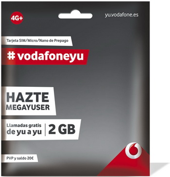 Unlimited calls and messages since yu to yu. -1.2 GB at full speed 4G LTE -60 Minutes to talk to where you want when you want in Spain -60 SMS to send to friends and family anytime in Spain And all for just 15 € balance ( already included).