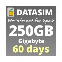Super Fast 4G INTERNET 250GB FOR 2 MONTHS, prepaid sim-cards