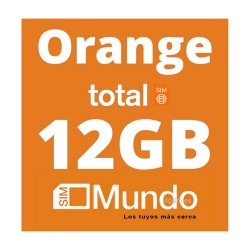 SIM Orange Mundo TOTAL 12GB DATA