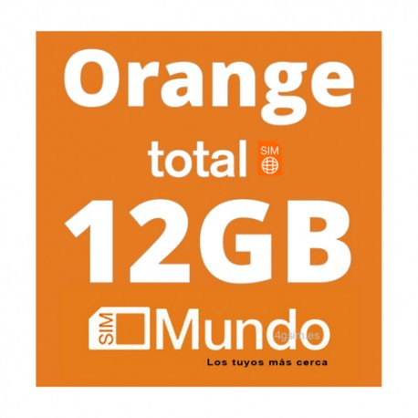 Orange Mundo TOTAL 12GB DATA for Spain and 36 countries in Europe