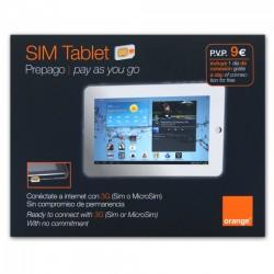 TABLET SIM ORANGE - 3G INTERNET IN SPAIN ON IPAD, USB MODEM, TABLET, NETBOOK OR MIFI