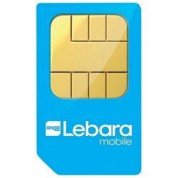 LEBARA MOVIL SPANISH PREPAID SIM CARD