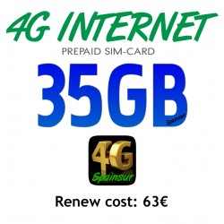 4G INTERNET 35GB  - FOR 30 DAYS  (Pay As You Go 4G Plans)