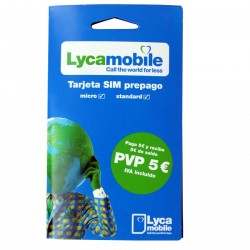 LYCAMOBILE SPANISH PREPAID SIM CARD - Pay As You Go - PayG