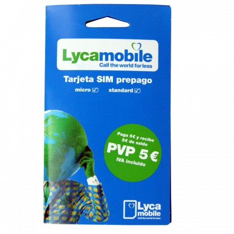 LYCAMOBILE SPANISH PREPAID SIM CARD