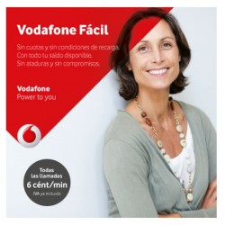 VODAFONE FACIL - SPANISH PREPAID SIM CARD - Pay As You Go - PayG