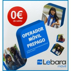 LEBARA MOVIL SPANISH PREPAID SIM CARD - Includes: 0€ CREDIT