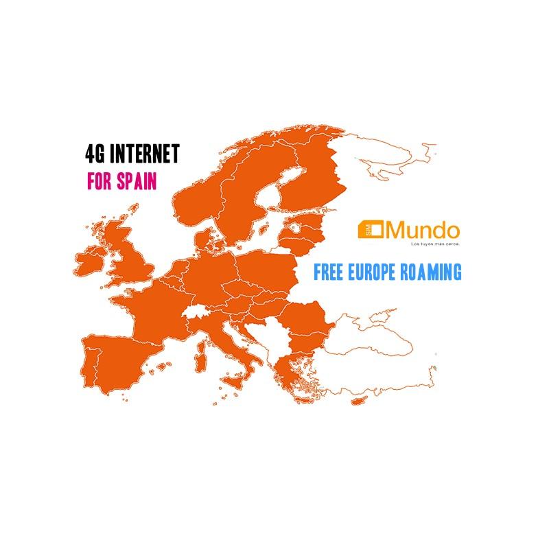 3GB ORANGE MUNDO PREPAID SIM-CARD 4G INTERNET FOR SPAIN end