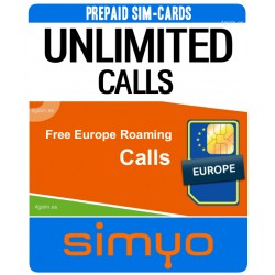 UNLIMITED CALLS - SIMYO (Pay As You Go) sim-cards