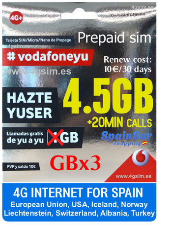 Spain Sim-card: Vodafone Yuser