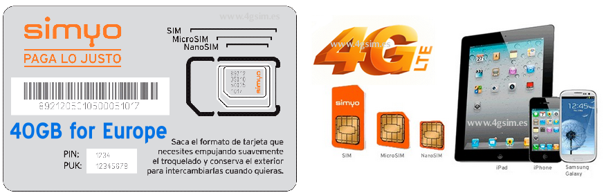 DATA SIM-CARDS STANDART, MICRO, NANO