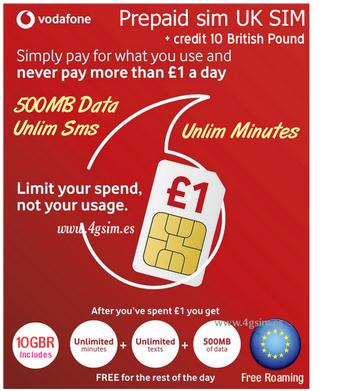 UK Vodafone GO 1