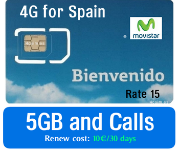Spain Sim-card: Movistar